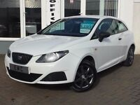 2009 59 Seat Ibiza 1.2 12v ( 70ps ) SportCoupe S~ICE WHITE~LOW RUNNING COSTS~