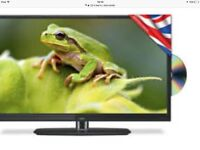 As new 22 in led tv / DVD combi with remote bargain £70 show working