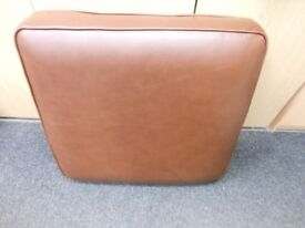 brand new marks & spencer brown tan leather sofa cushion from their harvest range