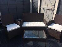 4-Piece Rattan Garden furniture
