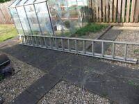 Aluminium double ladders 8.25 METRES long 4.50 METRES LONG EACH