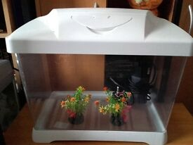COMPACT 16 X 10 X 10 TROPICAL AQUARIUM/ FISH TANK/PETS