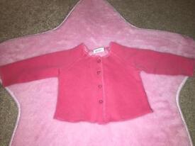 Next Baby Girls Cardigan 3-6 Months never worn