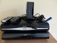 A 2GB Sky+HD box and a Standard one with remote controllers. Also Sky Router