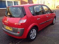 2004 REG RENAULT MEGANE SCENIC 1.9 DIESEL, CHEAP ROAD TAX AND LOW INSURANCE WITH 11 MOTN MOT.