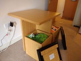 Space saver dining table & 4 storage chairs
