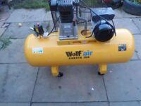 Air compressor Wolf dakota 150Lt, 240v.