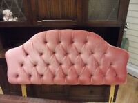 Pink Padded Headboard - For a Double Bed