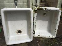 Old kitchen sinks / plant tubs