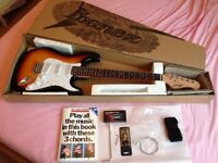 Johnny Brook Electric Guitars and Basses (GSA60-BS) + Marshall MG30CFX Electric Guitar Amplifier