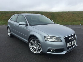 VERY LOW MILEAGE! STUNNING 2011 AUDI A3 2.0 S-LINE TDI 3 DOOR! FULL SERVICE HISTORY! LONG MOT!