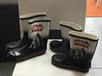 Star Wars Wellies - Two Pairs - Size 6 and Size 2