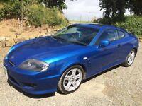 Hyundai Coupe 2.7V6 - Metallic Blue, Low mileage, Stylish, 2005, Bargain Buy