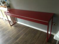 Slimline high gloss desk