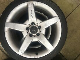 Mercedes Benz CLK C CLC alloy wheels tyres