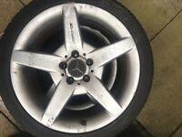 Mercedes Benz CLK C CLC alloy wheels tyres