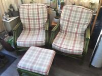 Conservatory Furniture set (4 x chairs + a footstool)