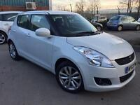 2013/63 SUZUKI SWIFT 1.3 SZ2 5dr # PEARL WHITE # GENUINE LOW MILES # STUNNING CAR # CAT C