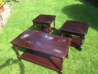 3 Solid Wood Small Tables