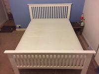 Double bed with memory foam spring mattress