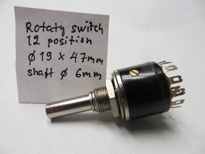 Rotary switch 1 pole 12 position. 12 Position Rotary Switch