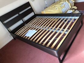 Beautiful Dark Wood Bed
