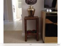Handmade rustic side lamp table new