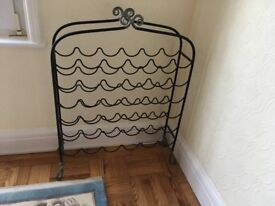 Gorgeous metal wine rack – lovely piece of furniture