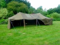 Marquee. Ex US army mess tent 30ftx15ft, great garden venue