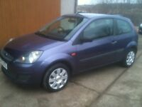 08 REG FORD FIESTA 1.2 STYLE 3DR 50000MILES FSH £2650