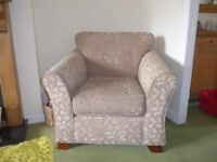 Marks and Spencer Abbey sofa armchair and footstool.