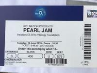 Pearl Jam Ticket for Tonight face value