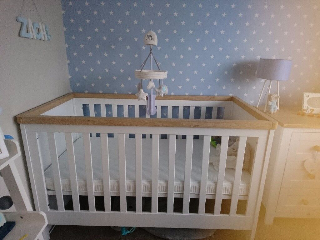 Mothercare lulworth range nursery furniture immaculate condition smoke and pet free home £450 ono