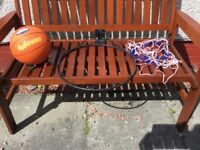 Complete set with basketball ring, net and ball. Very good condition rarely used