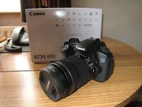 Canon eos 60D camera with Canon 18-135 IS STM lens