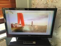 Black toshiba flat screen lcd TV 42 inch