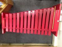 Used Red Percussion Plus Xylophone For Sale