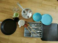 Pot, Pan, Plate Set & Utensils - Everything Must Go Today!