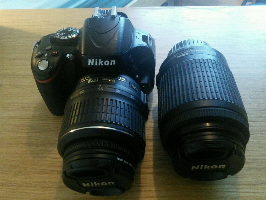 Nikon D5100 DSLR Camera With 2 VR Lenses 18 55mm And 55