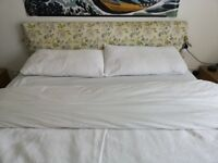 King Size SilentNight Bed frame with Laura Ashley headboard and storage space