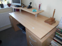 Sturdy wooden desk in excellent condition