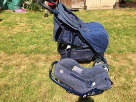 Britax single pushchair/travel system