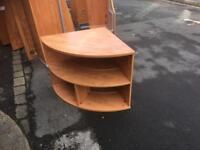 Desk height shelf