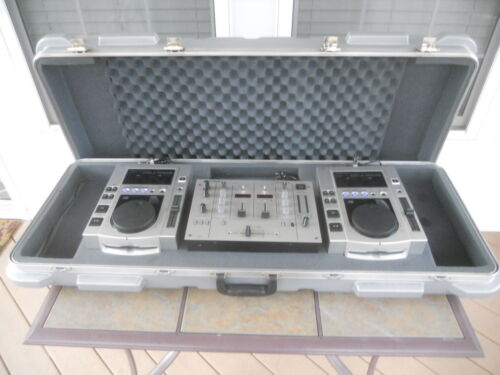 Vintage Pioneer DJ Coffin Case w/Mixer & Dual CD Players, Pre-Owned, Never Used