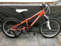 "Kids Felt Q20-S Orange/White Mountain Bike - size 20"" (over 7 years)"