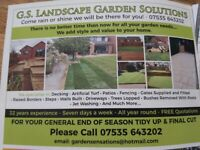 FENCING - DECKING - SLABBING - TURFING - FAKE TURF - FULL LANDSCAPING SERVICE & MUCH MORE ….