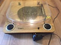 Portable electric turntable