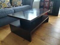 Coffee table - black brown