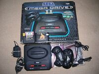 Sega Mega Drive 2 Boxed 2 Controllers 3 Games Cables Power Supply Manual Complete 80's Games