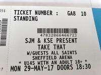 Take Take standing tickets x2 Sheffield 29th May